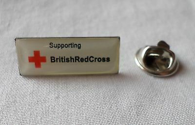 Silver Tone & Enamel: SUPPORTING BRITISH RED CROSS  [Pin Badge] (4)