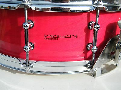 Wahan Snare 14 x 5 Buche Custom PRO Beech Snare red- rot