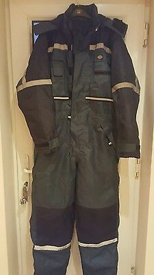 Dickies WP15000 Waterproof Padded Coverall Boilersuit Protective All In One NEW