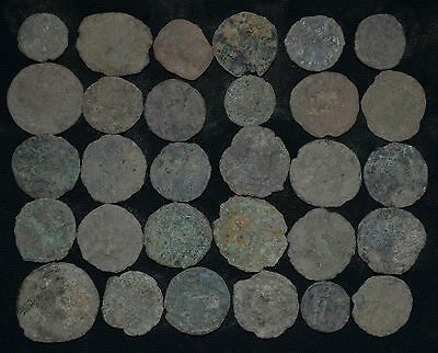 Lot of 30 Ancient Bronze coins. Roman Imperial, circa 3-4 century AD. Collection