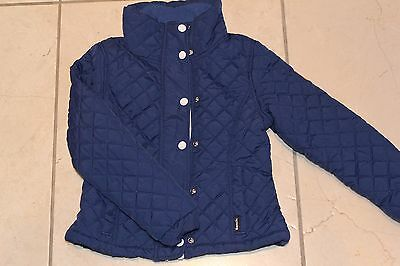 Girls Bench quilted navy jacket. Size 5-6Y. Excellent condition.