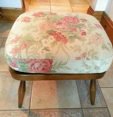 Ercol Windsor footstool, Golden Dawn, recently recovered  Collect BH22