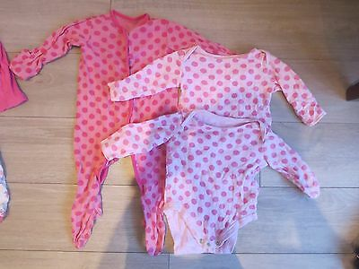 3 - 6 months girls bundle - sleepsuit and long sleeves