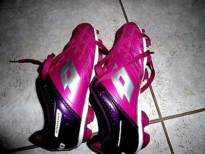 YOUTH girls kids STADIO lotto SOCCER CLEATS SHOE pink purple 13 W SHOES outdoor