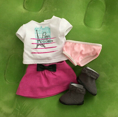 American Girl Grace Thomas Doll Meet Outfit with Boots NEW