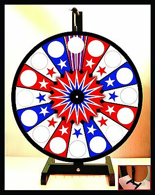 "Prize Wheel 18"" Spinning Tabletop Portable Americana"