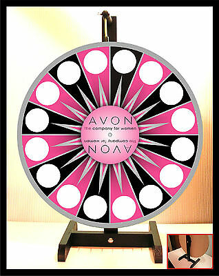 "Prize Wheel 18"" Spinning Tabletop Portable Avon Starburst pink center"
