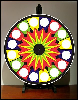 "Prize Wheel 24"" Spinning Tabletop Portable Carnival NEW"