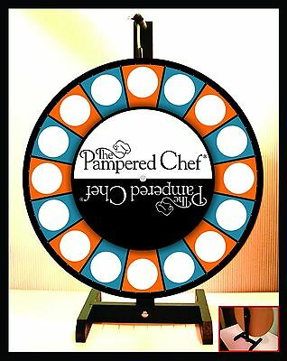 "Prize Wheel 18"" Spinning Tabletop Portable Pampered Chef"