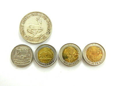 South Africa 5 Shillings 1949 Plus 5 Rand 1994 2005 2008 2011