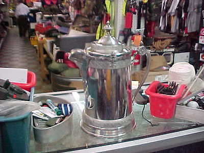 """1879  Reed & Barton Silverplated Water Pitcher W/porcelain Liner 13"""""""