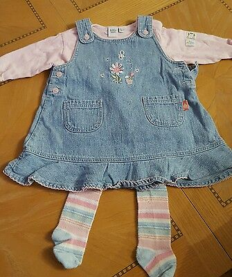 Babble Boom Pinafore Dress Set Age 3-6 mths
