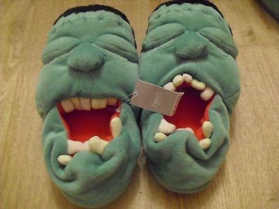 Bnwt Childrens Next Incredible Hulk Slippers Size 13