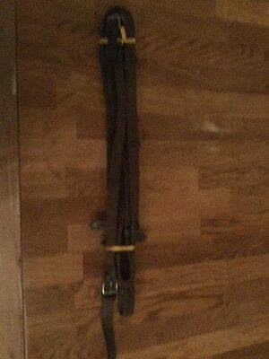Brown Leather Continental Reins