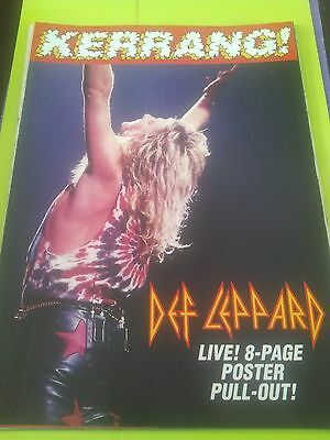 Def Leppard 8 Page Tour Pull Out Poster from Kerrang Magazine