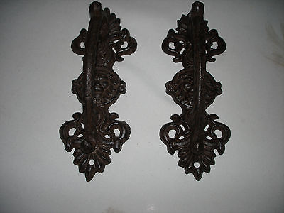 Rustic Lion Head  door Handle/ Gate Handle  Cast iron 2 handles