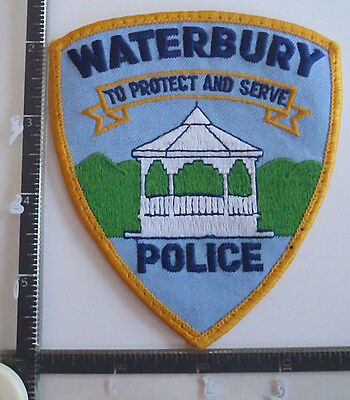 Waterbury VT POLICE PATCH VERMONT Gazebo To Protect and Serve