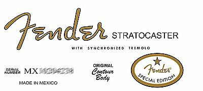 Two  Fender Special Edition  60s Stratocaster Decals