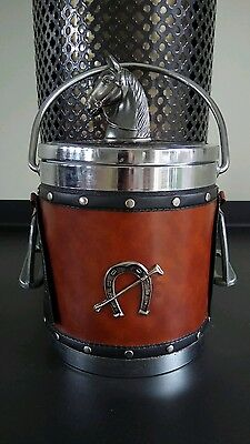 Retro Horse Themed Ice Bucket Made in Japan Vintage
