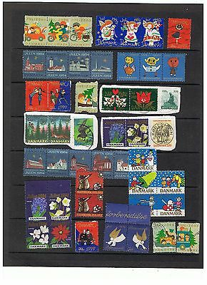 Denmark.Lot of 44 Christmas seals. Cancelled / non-cancelled.