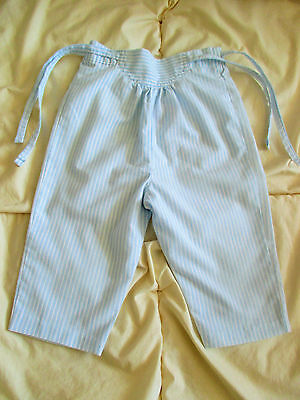Girls  vintage   Pale Blue striped Trousers Mothercare  90 cm age 1 1/2 - 2 yr