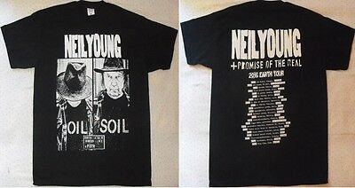 NEIL YOUNG + Promise of the Real 2016 EARTH Tour Super Maglietta T-SHIRT MINT