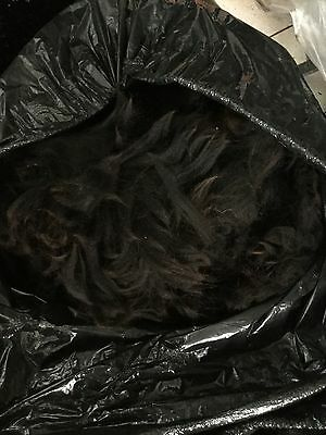 100g Washed Black Llama Fleece/fibre