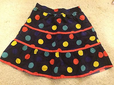 Girls John Lewis Skirt Age 5 Purple Spots Baby Cord Great Condition