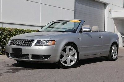 2005 Audi S4 Cabriolet Convertible 2-Door 05 S4, Cabrio, Manual, Mint Condition, Low Miles, Heated Seats! SHIPS FREE!
