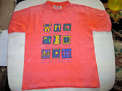 Vintage Wildbunch  Girls/Boys t-shirt - Age 4-5 coral   110cm height  vgc