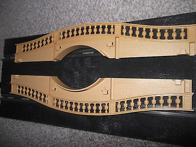 Scalextric Hump Bridge With All  Track Side Clips