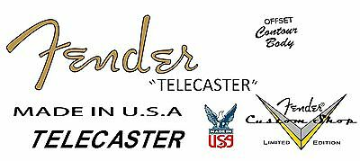 Two  Fender Custom Shop Limited Edition Decals