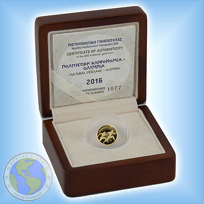 """50 Euro GRIECHENLAND 2016 """" Olympia """" GOLD  -  Polierte Platte / PP / Proof"""