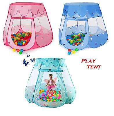 Kids Pop-Up Play Castle Tent Children Ball Pit Playhouse Indoor Outdoor Party UK