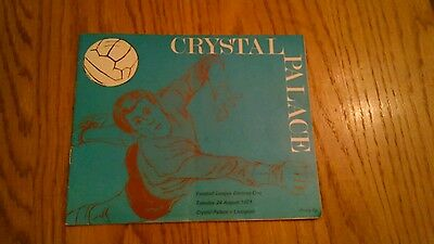 Crystal Palace V Liverpool Programme August 1971