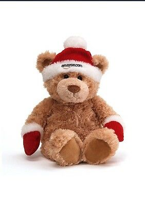 "2012 Gund Teddy Bear Collectible Limited Edition Amazon 12"" Christmas Plush"