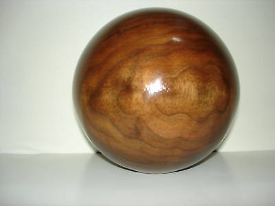 "Unfinished 4"" Dia. Walnut, Oak, Maple, Cherry Wood Ball Newel Post Finial#223"