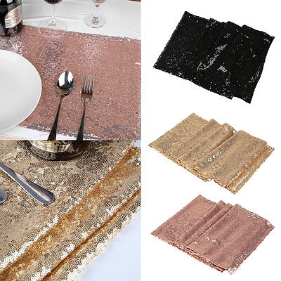 30x270cm White Champagne Black Sequin Sparkly Bling Table Runner Wedding Party