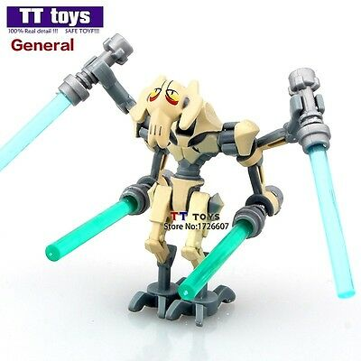 STAR WARS General Grievous with Lightsaber Model DIY Blocks Minifigures Gift Toy