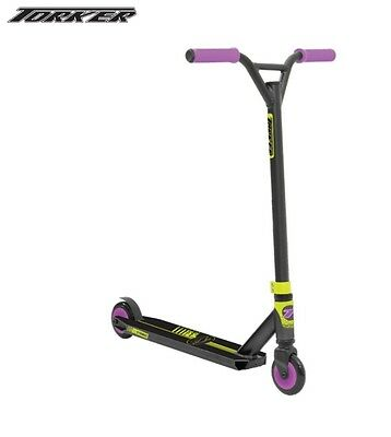 Torker Stroke Scooter - Purple Black and Yellow Complete Scooter Age 6+