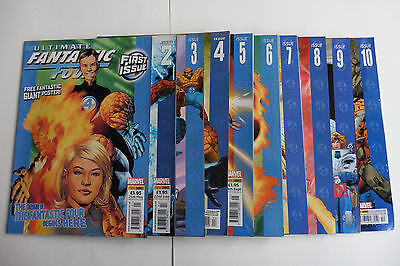 Ultimate Fantastic Four, Panini 2005, 1 - 10 complete, including unused poster.