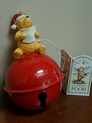 Disney Classic Pooh Christmas OrnamentW/ Large Jingle Bell New w/ Tags