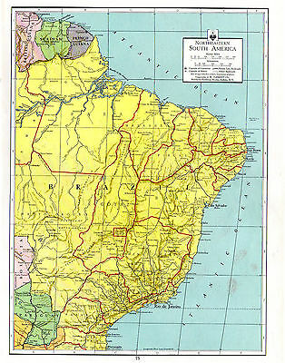1938 Northrup ATLAS ORIGINAL MAPS Southern South America NE South America