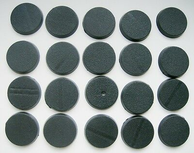 Warhammer x20 New 25mm Round Unslotted Bases