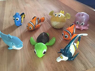 Original Finding Nemo Macdonalds Happy Meal Toys Set Of 8