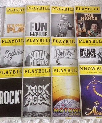 12 Playbills Aladdin Motown Rocky Something Rotten And More New Mint
