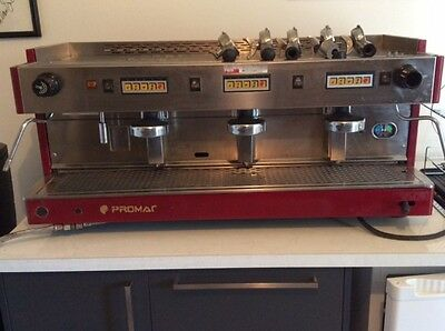 Promac Commercial Coffee Machine 3 group head