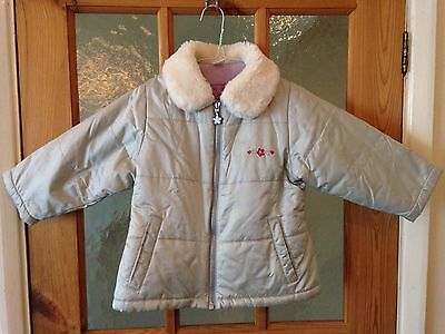 Girls Adam winter quilted coat / jacket Age 1 1/2 - 2 years