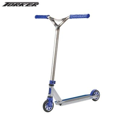 Torker Piston Scooter - Silver and Blue Complete Scooter Age 6+