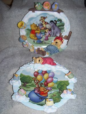 2 collector plates Winnie the Pooh Pooh's Sweet Dreams Smackeral of Fun Honey